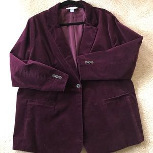 Old Navy corduroy purple blazer